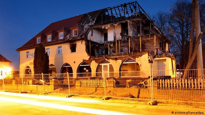 The burned-out apartment in Zwickau in Germany where Mundlos, Böhnhardt and Zschäpe were based in 2011. Zschäpe torched it when her accomplices were found by police and killed themselves. (picture-alliance/dpa)