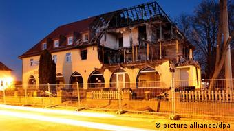 The ruins of the house in Zwickau that was destroyed by an explosion on 4.11.2011 Photo: Jan Woitas dpa/lsn/lsw (c) dpa - Bildfunk