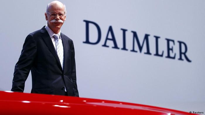 Dieter Zetsche, CEO of Germany's Daimler AG with its Mercedes Benz car group smiles as he poses for a picture prior to the company's annual news conference REUTERS/Kai Pfaffenbach