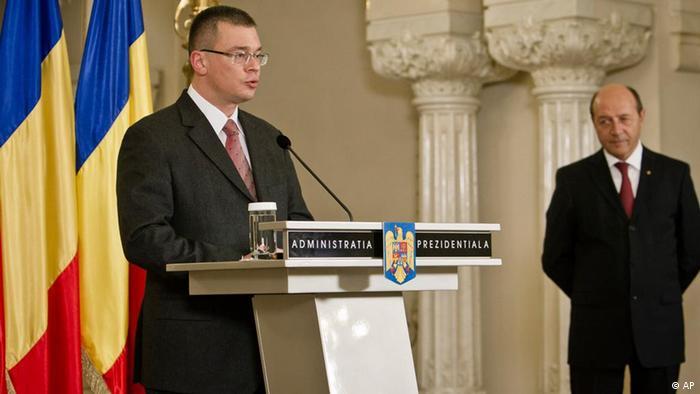 Mihai-Răzvan Ungureanu şi Traian Băsescu