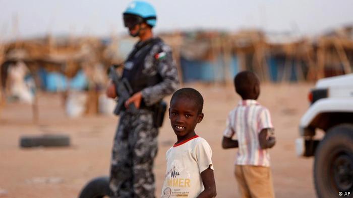 Лагерь беженцев в регионе Дарфур