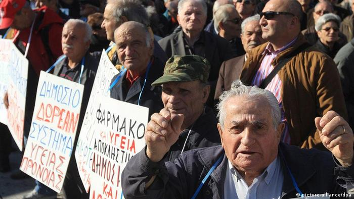 Griechenland Protest Rentner Pensionäre