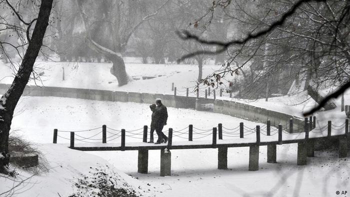 El frío arrecia en Budapest.