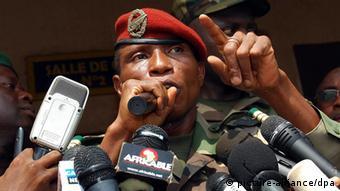 Guinea Oberst Moussa Dadis Camara in Conakry (picture-alliance/dpa)