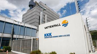 Außenansicht des stillgelegten Kernkraftwerks Krümmel (Foto: AP)