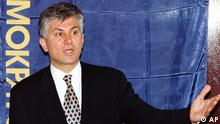 Serbian opposition leader Zoran Djindjic, head of the Democratic Party that boycotted the presidential and parliamentary elections, speaks at a press conference in Belgrade, Monday, Sept. 22, 1997. According to officials results, the boycott call by the Democrats and several other opposition parties has failed as turnout was above 50 percent. Djindjic maintains that the results are rigged and that he does not regret for not taking part in the elections. (AP PHOTO/Darko VOJINOVIC)Image 4 of 20