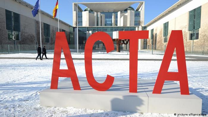 ACTA in big red letters