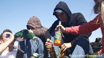 Alkoholtrinkende Jugendliche