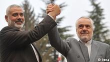 اسماعیل هنیه در دیدار با محمدرضا رحیمی، معاون اول رییس جمهور ایران