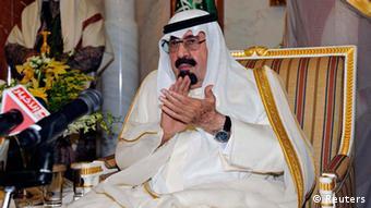 der saudische König Abdullah in Riad, 10.2. (Foto: Reuters)