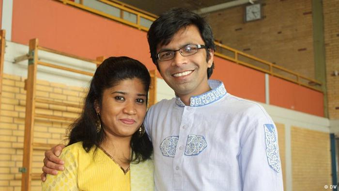 Mehrun Runi, left, and her husband, Golam Mustofa Sarowar, right