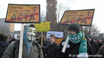 An anti-ACTA demonstration in Berlin