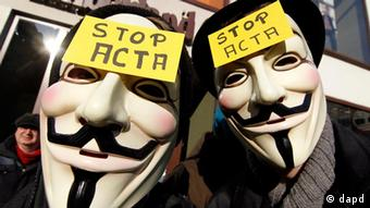 Anti-ACTA demonstrators in Dusseldorf