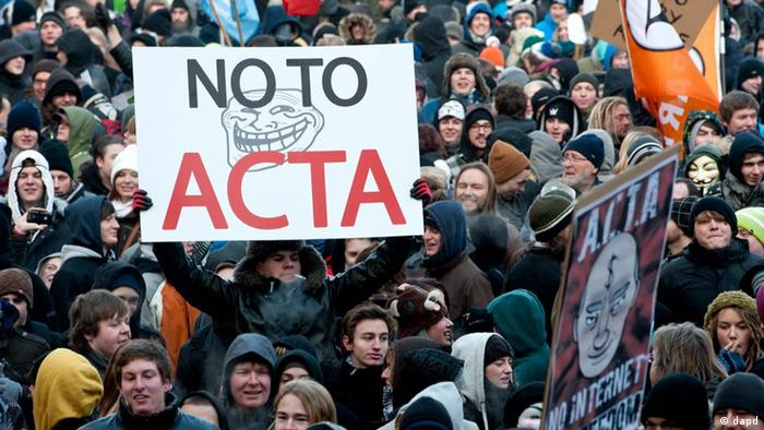 Anti-ACTA-Demonstration in München (Foto: dapd)