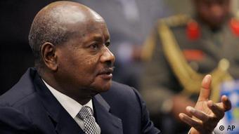 A close up photo of President Yoweri Museveni (AP Photo/Orlin Wagner)