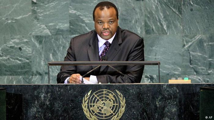 King Mswati III of Swaziland addressing the UN Assembly in 2009