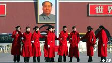 China Volkskongress in Peking Mao und Frauen
