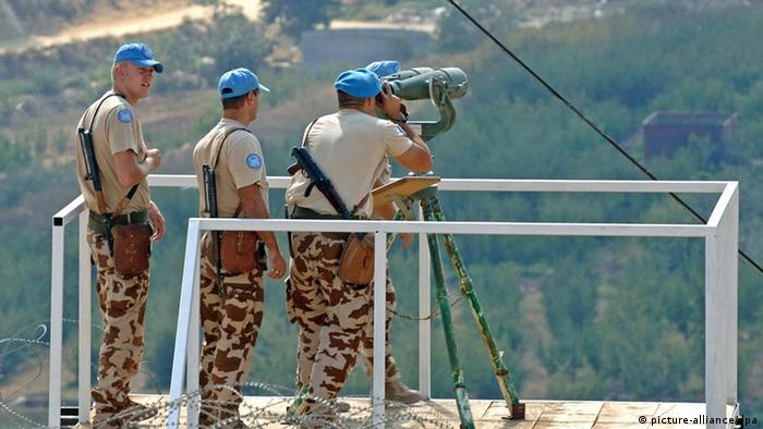 U.N. peace keepers on the Golan heights