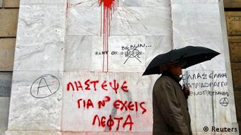 Griechenland Finanzkrise nach Sparpaket in Athen