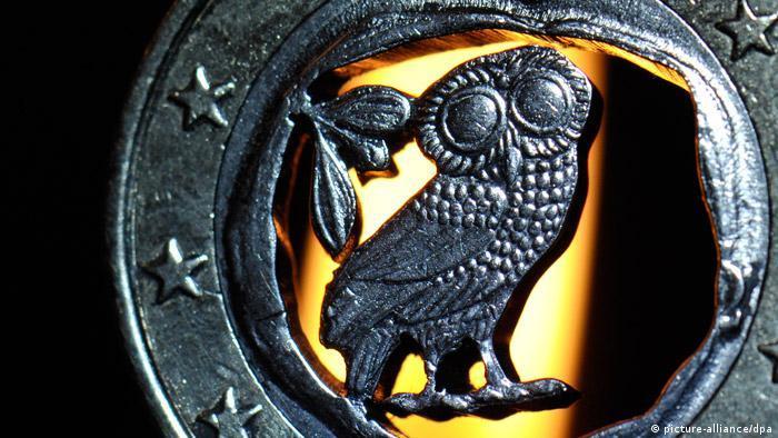 Krise Euromünze aus Griechenland