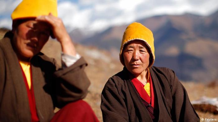 Tibetische Nonnen Thema Selbstverbrennung Protest gegen China