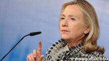 هیلاری کلینتون وزیر خارجه آمریکا  گفته است، اعلام آمادگی ایران برای مذاکره ممکن است گامی به جلو باشد