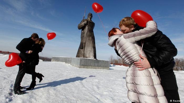 Bildergalerie zum Valentinstag 2012 (Reuters)
