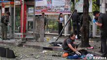 صحنهای از انفجار تروریستی سهشنبه (۱۴ فوریه) در بانکوک