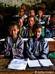 GettyImages 74584876. BEKOJI, ETHIOPIA - MAY 17: Schoolchildren in class at the famous Bekoji school where many top runners were educated on May 17, 2007 in Bekoji, Ethiopia (Photo by Gary M. Prior/Getty Images).