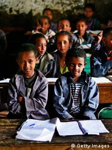 Äthiopien Schulklasse in Bekoji