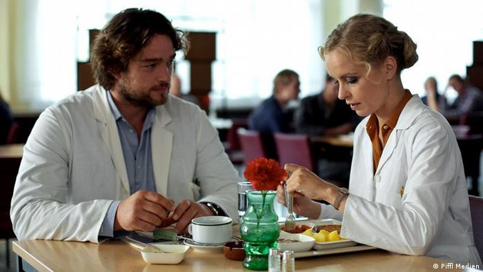 Ronald Zehrfeld and Nina Hoss in Barbara