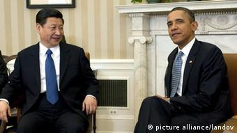 US President Barack Obama meets with Chinese Vice President Xi Jinping in the Oval Office at the White House in Washington on February 14, 2012 (UPI/Kevin Dietsch /LANDOV pixel)