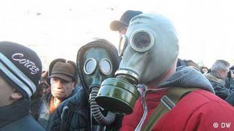 Мешканці промислового Маріуполя на акції протесту вимагають чистого повітря