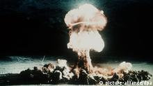 آزمایش اتمی در صحرای نوادا در آمریکا