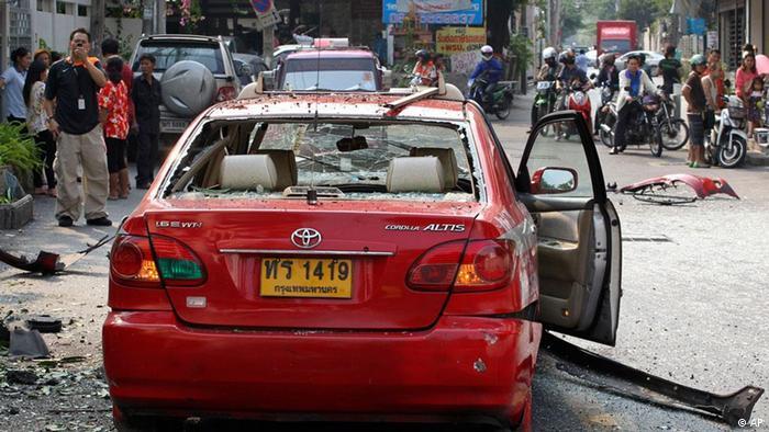بمبهای استفادهشده در حملات بانکوک کاملا مشابه بمبی بود که پیشتر در حملات هند و گرجستان مورد استفاده قرار گرفته بود.