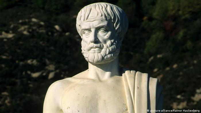 Busto del erudito griego Aristóteles.