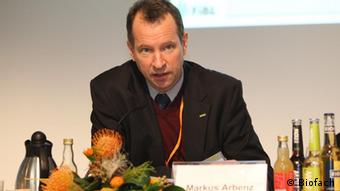 Markus Arbenz, IFOAM, Executive Director, bei der Pressekonferenz BOELW/IFOAM