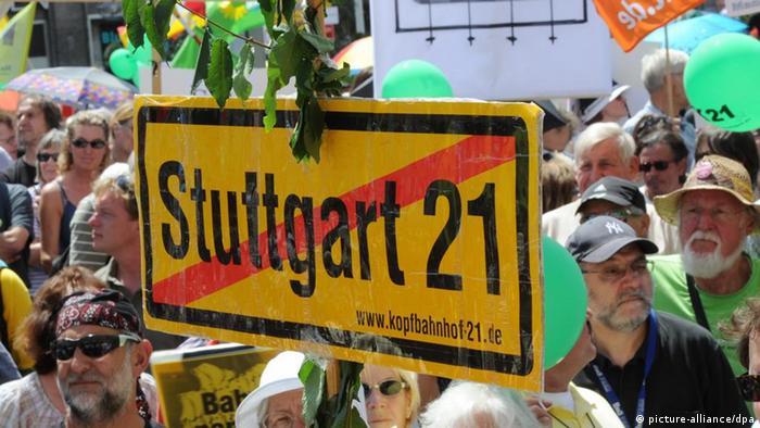 Gegner des Bahnprojekts Stuttgart 21
