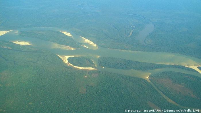 Luftaufnahme Brasilien Xingu Fluss Amazonien