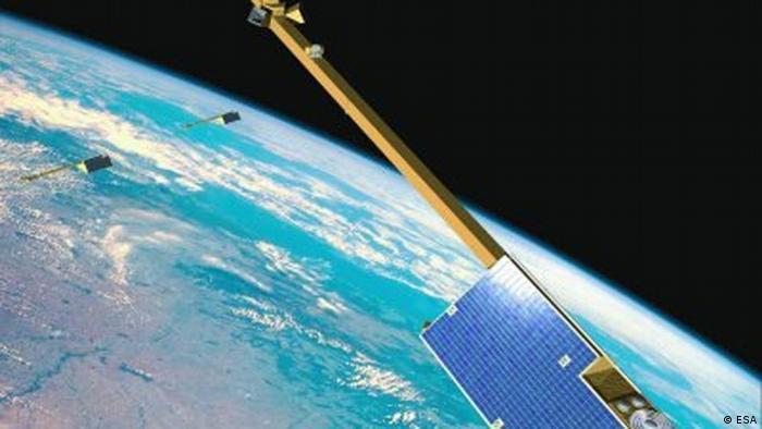 Swarm-Satelliten im Betrieb (Foto: Esa)