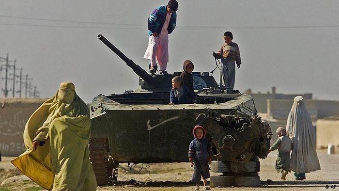 Советский танк в Афганистане