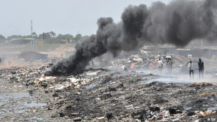 Electronic waste at a landfill in Ghana
