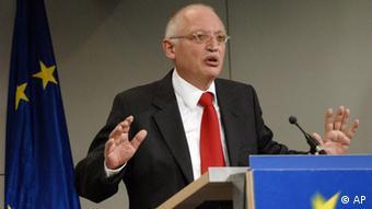 O σοσιαλδημοκράτης πολιτικός και πρώην κοινοτικός επίτροπος Γκίντερ Φερχόιγκεν