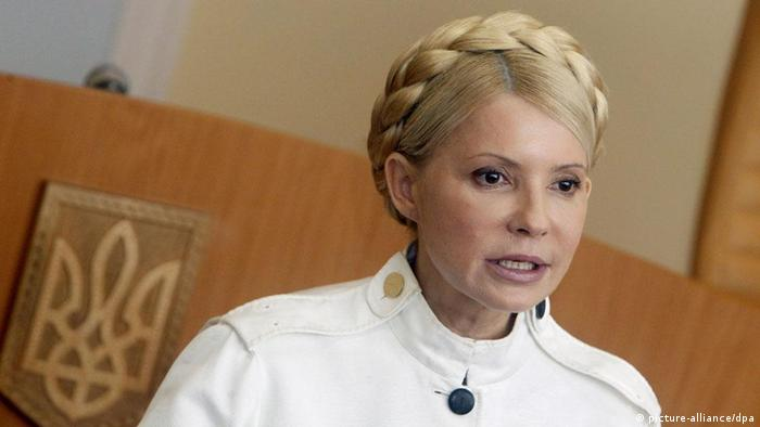 Former Ukrainian Prime Minister and opposition leader Yulia Tymoshenko during her hearing at the Kiev Pecherskyi District Court in Kiev, Ukraine, 29 June 2011. Former Ukrainian Prime Minister Yulia Tymoshenko was found guilty of public malfeasance by the Kiev court on 11 October 2011. Tymoshenko has been charged of having illegally signed a natural gas import agreement with Russia while in office from 2007 to 2010. (Photo: dpa)
