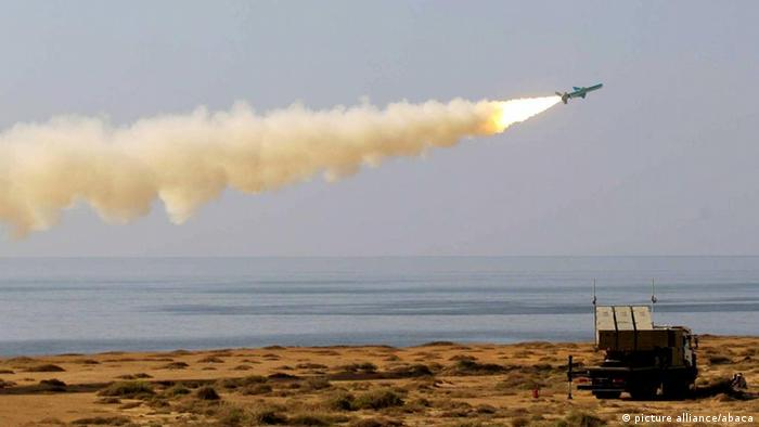 An Iranian missile is launched during Iranian naval maneuvers dubbed Velayat 90 on the Sea of Oman, Iran on January 02, 2012. Photo by Imago/Unimedia/ABACAUSA.COM