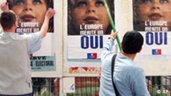 EU Volksabstimmung in Frankreich Plakat