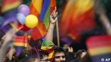 Indien Homosexuelle Gender Rechte Demonstration Regenbogenfahne