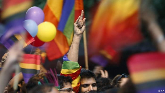 New Delhi's gays, lesbians, transsexuals and their supporters participate in a gay pride parade in New Delhi