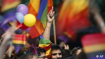 New Delhi's gays, lesbians, transsexuals and their supporters participate in a gay pride parade