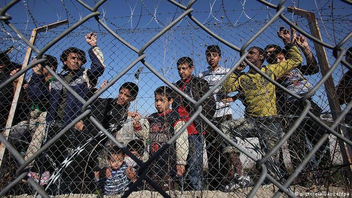 В лагере для нелегальных беженцев в Греции